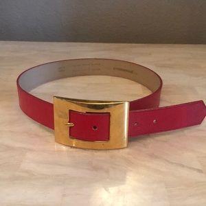 Ladies Emmanuel Red Leather belt